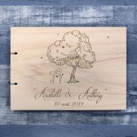 Champêtre - Livre d'or de mariage sur bois