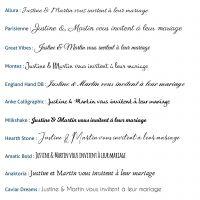 Faire part de mariage avec motif fanions