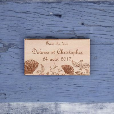 save-the-date-mariage-bois-nature-champetre-fleur-laser