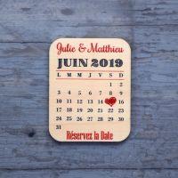 Save the date sur bois - Pense-bête