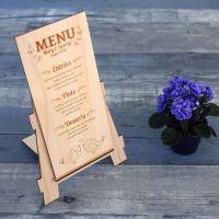 menu-mariage-bois-coquelicot-champetre-fleur