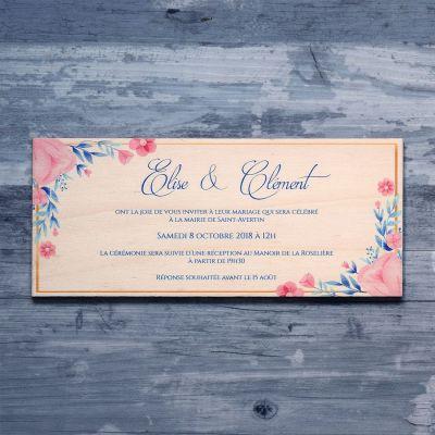 faire-part-mariage-bois-fleur-floral-rose