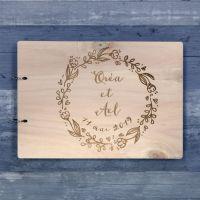 Livre d'or de mariage - Couronne de laurier